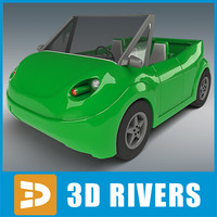 new car cat 3d model