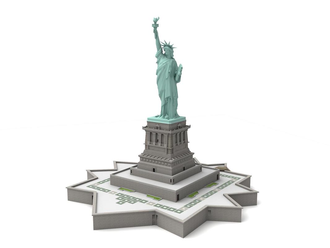 statue liberty c4d