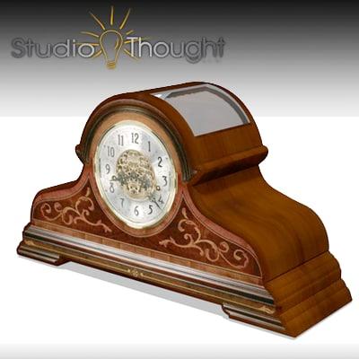 desk clock howard miller 3d model