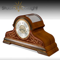 desk clock howard miller 3d model