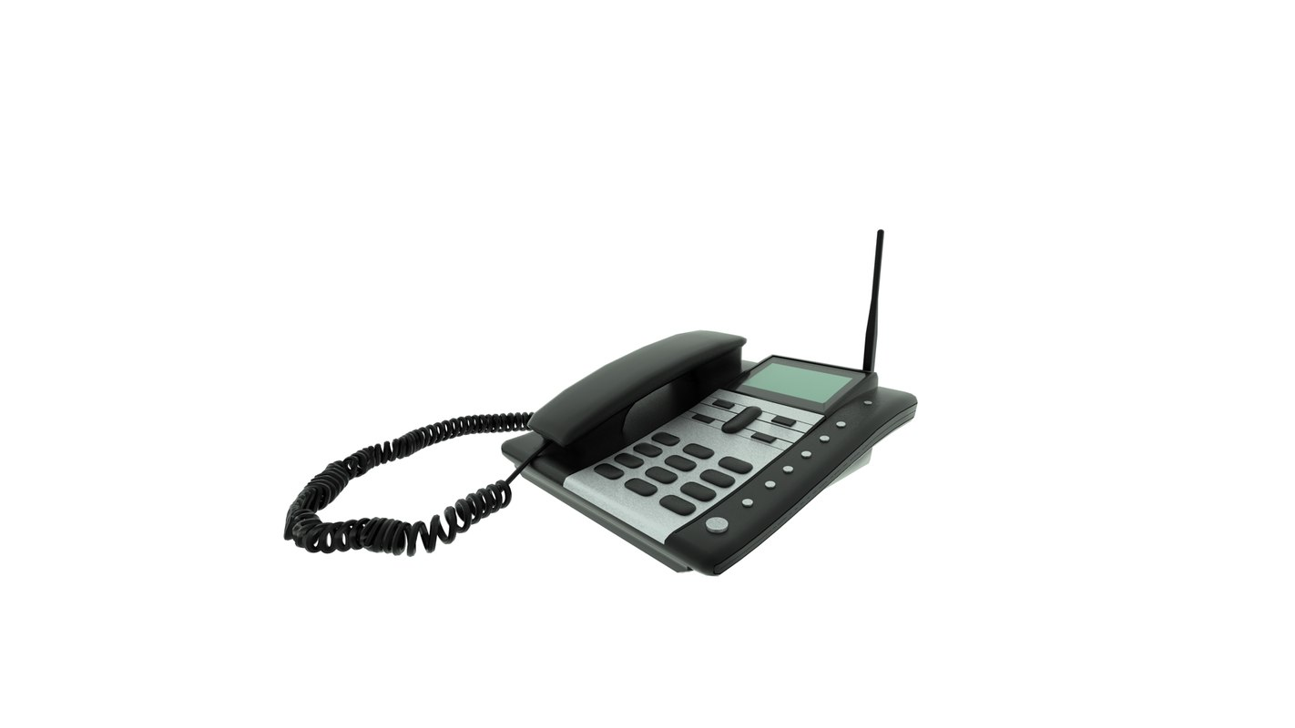 3d model of desktop telephone