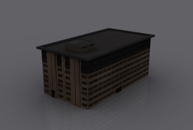 old house 3d dxf