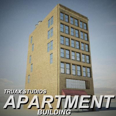 3ds max truax apartment building 02