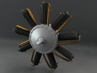 le rotary engine 3d obj