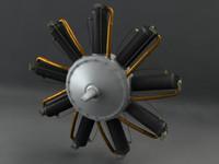 le rotary engine 3d obj