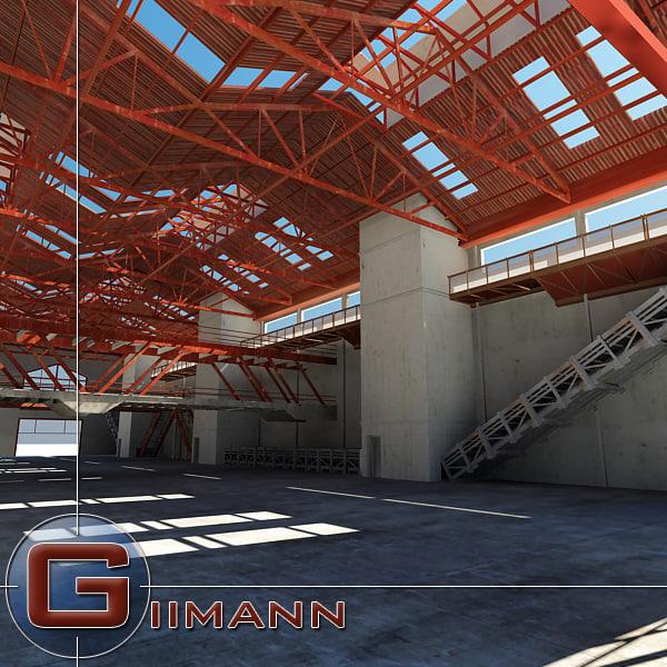 3d 3ds architectural interior scene