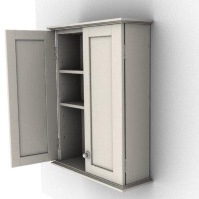 3ds cabinet shelves knobs