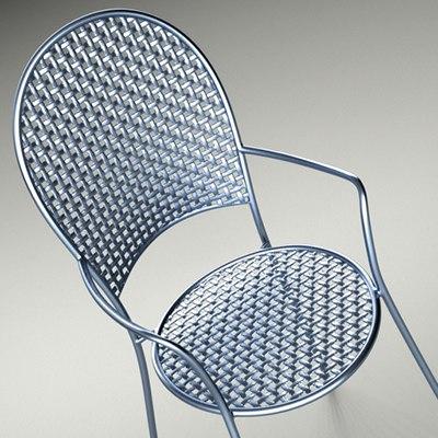 3d obj metal chair