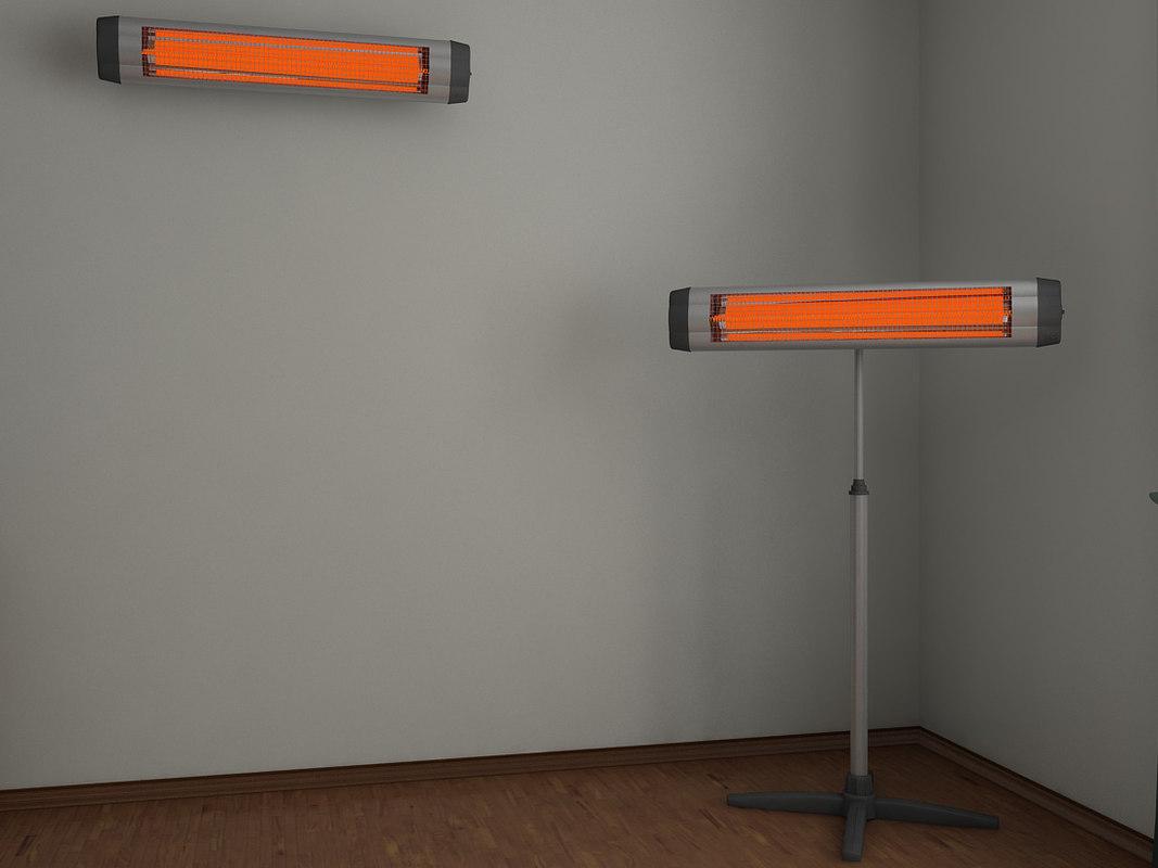 3d model infrared heater - ufo