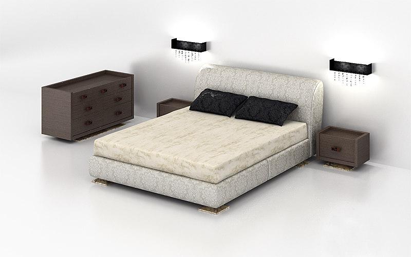 3d model of bedroom set capital -