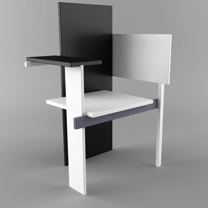 3d model berlin chair for Product design berlin