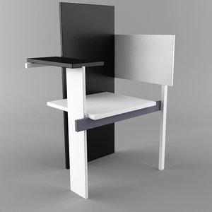 3d model berlin chair