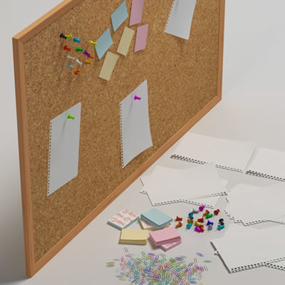 pinboard office tools 3d obj