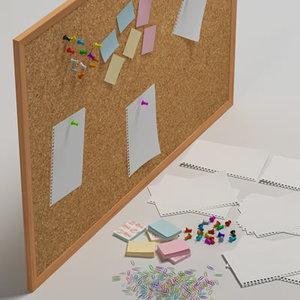 pinboard office tools 3d obj