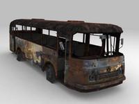 3d model russian bus