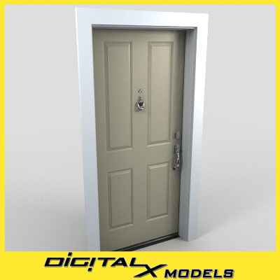 residential entry door 14 3d max