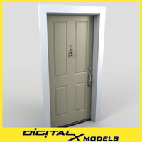 residential entry door 14 3d max