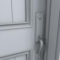 3ds max residential entry door 19