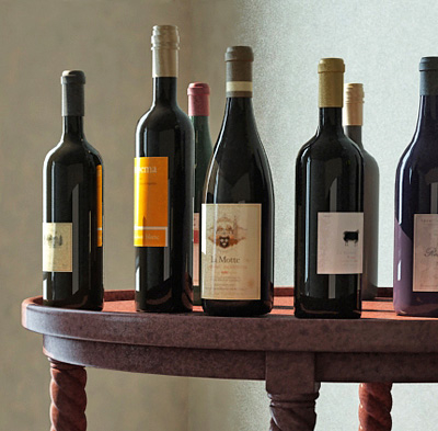 wine table 3d model