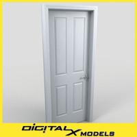 3d model residential interior door 02
