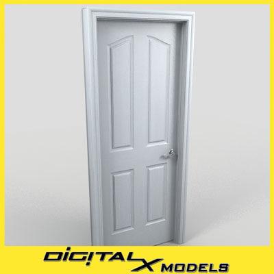 residential interior door 07 obj