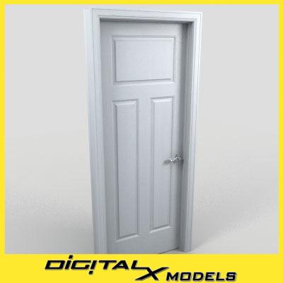 residential interior door 12 3d model