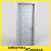 residential interior door 15 3d model