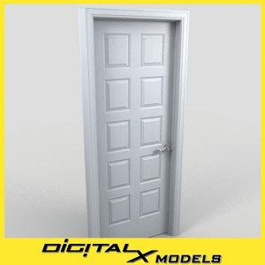 residential interior door 15 3d model