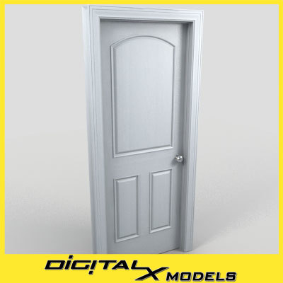 residential interior door 16 3d model