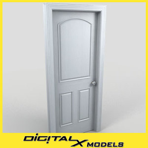 residential interior door 16 3d model