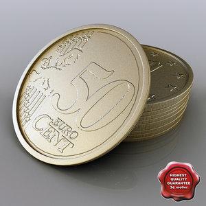 3d 50 euro cent