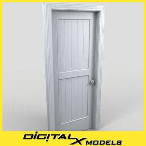 residential interior door 21 3d model