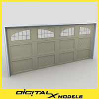 residential garage door 05 3d model