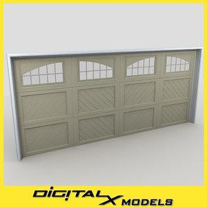 residential garage door 05 3d model