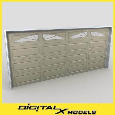 3d residential garage door 12 model