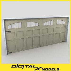 3d residential garage door 15 model