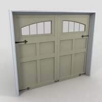 3d residential garage door 15 model