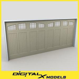 3ds max residential garage door 19