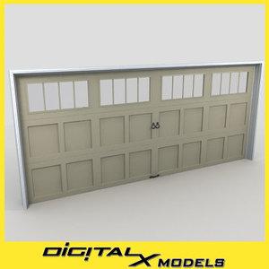 3d residential garage door 22 model