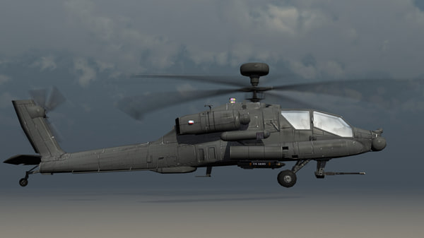 3d ah-64d apache longbow helicopter model