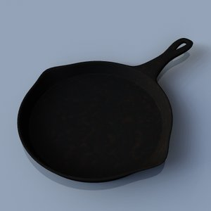 cast iron frying pan 3d max