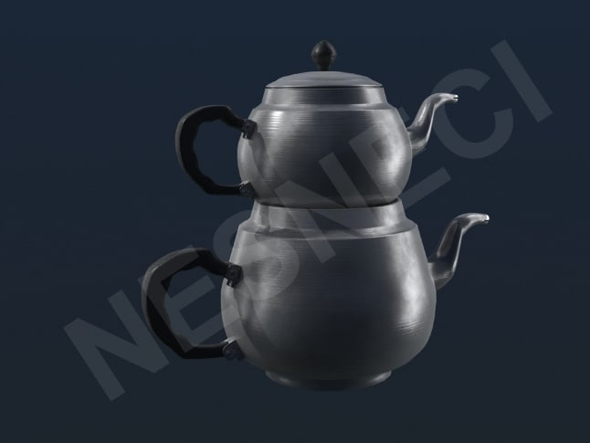turkish teapot 3d lwo