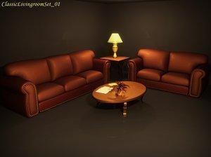 3dsmax classic livingroom set 01