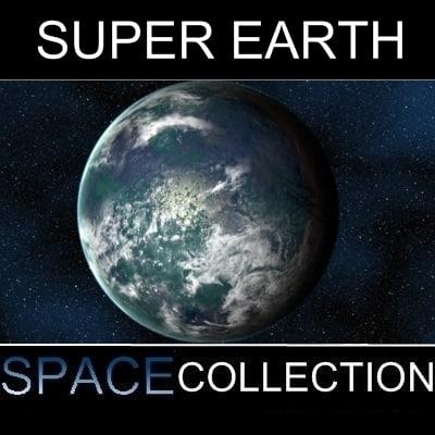 3d model of super planet earth