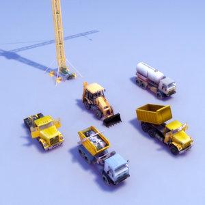 vehicle civil engineering 3d model