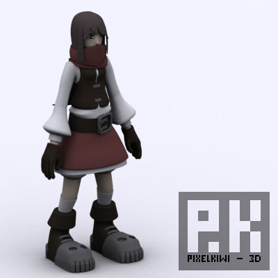 female character rogue 3d 3ds