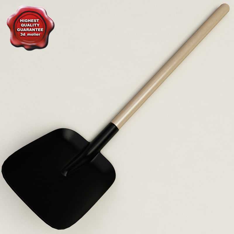 3d model garden shovel v2 for Gardening tools 3d model