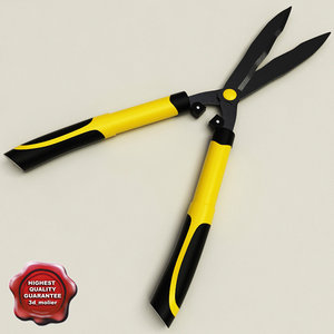 3d model garden scissors