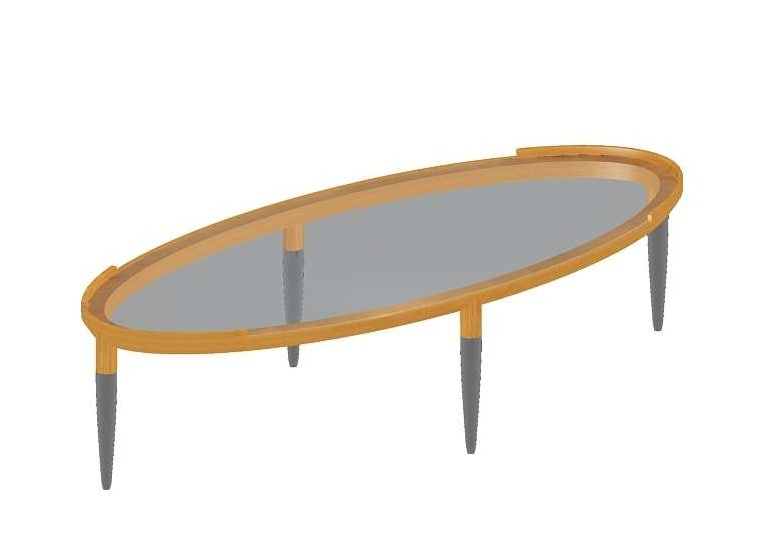 free roi glass table giorgetti 3d model