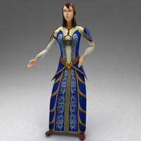 rigged female citizen 3d model